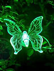 Butterfly-Shaped Solar Energy Pin Lamp Rainbow