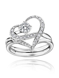 Charming Platinum Plated Crystal Ring