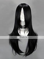 Cosplay Wigs Naruto Neji Hyuga Black Medium Anime Cosplay Wigs 65 CM Heat Resistant Fiber Male