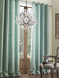 (One Panel) Solid Classic Faux Linen Eco-friendly Curtain