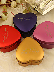 24 Piece/Set Favor Holder - Heart-shaped Tins Favor Tins and Pails/Favor Boxes Personalized