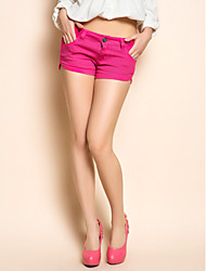 TS Garment Wash Fuchsia Denim Shorts