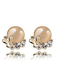 Imitation élégantes Opal Pearl Earrings