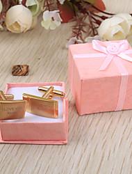 Gift Groomsman Personalized Rectangular Cufflinks