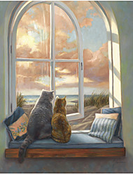 Stretched Canvas Art Animal Enjoying the View by Lucie Bilodeau Ready to Hang