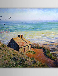Famous Oil Painting A Costoms House,Morning Effect by Claude Monet