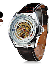 Men's Wrist Style Water Resistant Mechanical Analog PU Watch (Assorted Colors) Cool Watch Unique Watch