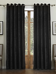 modernos dois painéis sólidos jantar preto cortinas de rayon sala de cortinas