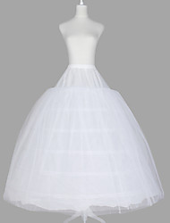 Slips Ball Gown Slip Floor-length 3 Tulle Netting Taffeta Organza White As Picture