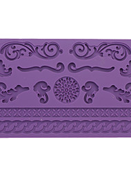 DIY Baking Lace Style Fondant Cake Embossing Mould (Random Color)