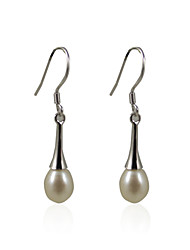 Lovely 925 Sterling Silver Pearl Drop Earrings