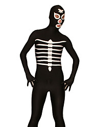Black and White Skeleton Lycra Zentai