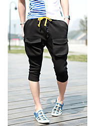 Männer Buckle Cropped Harem Pants