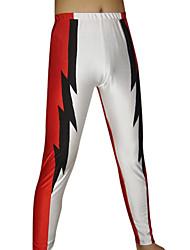 Blanco y rojo Pantalones Spandex
