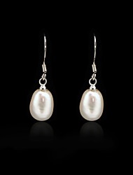 925 Sterling Silver With Freshwater Pearl Drop Earrings