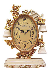 Antique Bell Polyresin Table Clock
