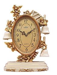 Antique Polyresin Relógio de mesa