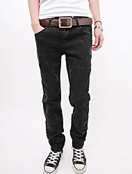 Men's Elastic Dark Gray Jeans