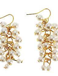 Z&X®  Bohemian Multi-Level Beaded Imitation Pearl Tassel Earring