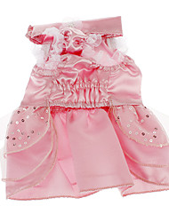 Dog Dress / Clothes/Clothing White / Pink / Purple Summer Sequins Wedding