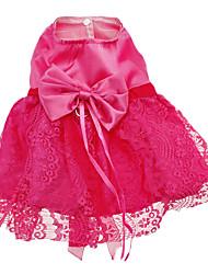 vestidos de estilo patrón de malla flor graciosas para los perros (XS-XXL)