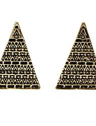 Vintage velho padrão brincos triangulares