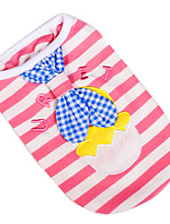 Lovely Hatching Chicken Pattern Vest with Little Tie for Dogs (XS-XL)