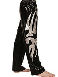 Noir et argent PVC Pants