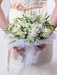 Forme ronde satin de mariée Bouquet