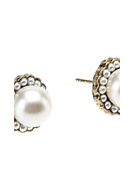 Stud Earrings Pearl Gold Alloy Jewelry Daily