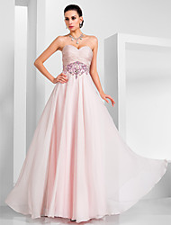 Formal Evening/Military Ball/Prom Dress - Blushing Pink Plus Sizes A-line/Princess Strapless/Sweetheart Floor-length Chiffon