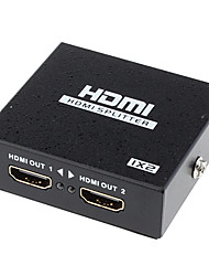 1080p-2-Port v1.4 HDMI Splitter unterstützt 3D-1080p