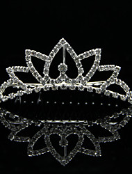 High Quality Alloy With Rhinestones Wedding Bridal Tiara
