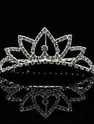 Liga de alta qualidade com strass Wedding nupcial Tiara