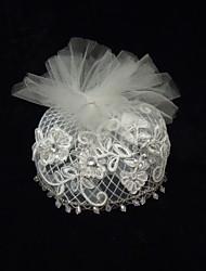 Women's Rhinestone Net Headpiece-Special Occasion Fascinators 1 Piece