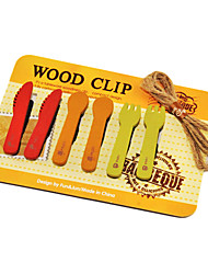 Carino tavola Clips modello di legno (6p)