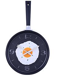 """Paroi analogique de style 14.2 """"h omelettes pan horloge (couleur aléatoire, 1xAA)"""