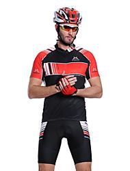 MYSENLAN PN сетка + Flex Материал с коротким рукавом быстросохнущие Костюмы Велоспорт (черный, красный, белый)