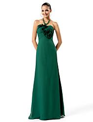 Formal Evening/Prom/Military Ball Dress - Dark Green Plus Sizes Sheath/Column Strapless Floor-length Chiffon