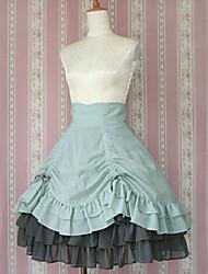 Longueur genou Green Light coton doux Jupe Lolita