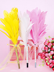 Pretty Feather Wedding Pen With Bowkont (More Colors)