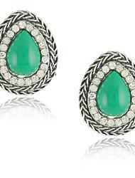 Stud Earrings Women's Alloy Earring Rhinestone/Citrine