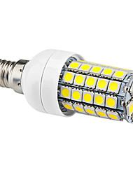 E14 6 W 59 SMD 5050 540 LM Natural White Corn Bulbs AC 220-240 V