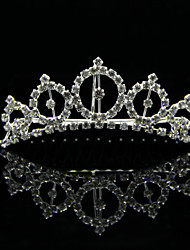 Luxurious Alloy With Rhinestones Wedding Bridal Tiara