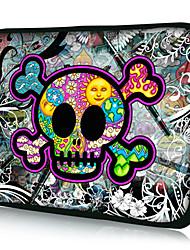 """Cute Skull""Pattern Nylon Material Waterproof Sleeve Case for 11""/13""/15"" Laptop&Tablet"