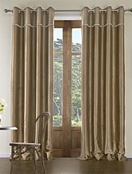 (Dos paneles) enrejado de diamante moderna sala de relieve cortina de oscurecimiento