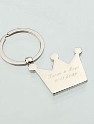 Personalized Crown With Rhinestone Key Ring (Set of 6)