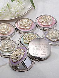 Personalized Rose Chrome Compact Mirror - Set of 4 (More Colors)