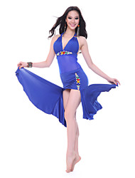 Performance Dancewear Tulle Belly Dance Dress for Ladies More Colors