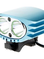Luces para bicicleta , Luces Frontales / Luces para bicicleta - 3 Modo 2000 Lumens Recargable 18650 x 4 Batería Ciclismo/Bicicleta Azul